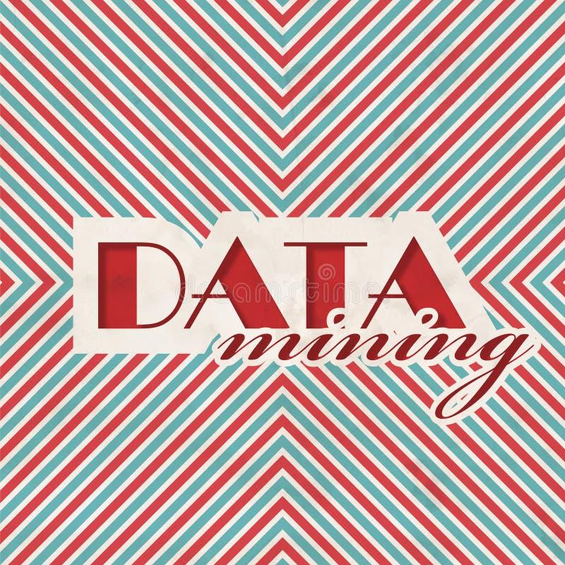 Concetto del data mining nella progettazione piana immagini stock libere da diritti