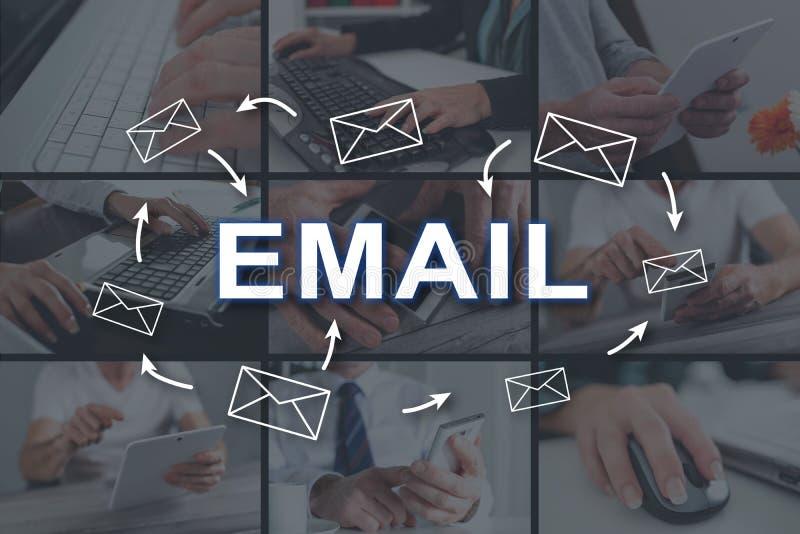 Concetto del email fotografie stock libere da diritti