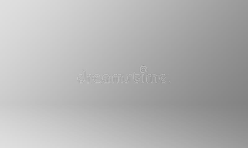 Concetto del fondo dello studio - fondo grigio scuro della parete della stanza dello studio di pendenza per il prodotto illustrazione di stock