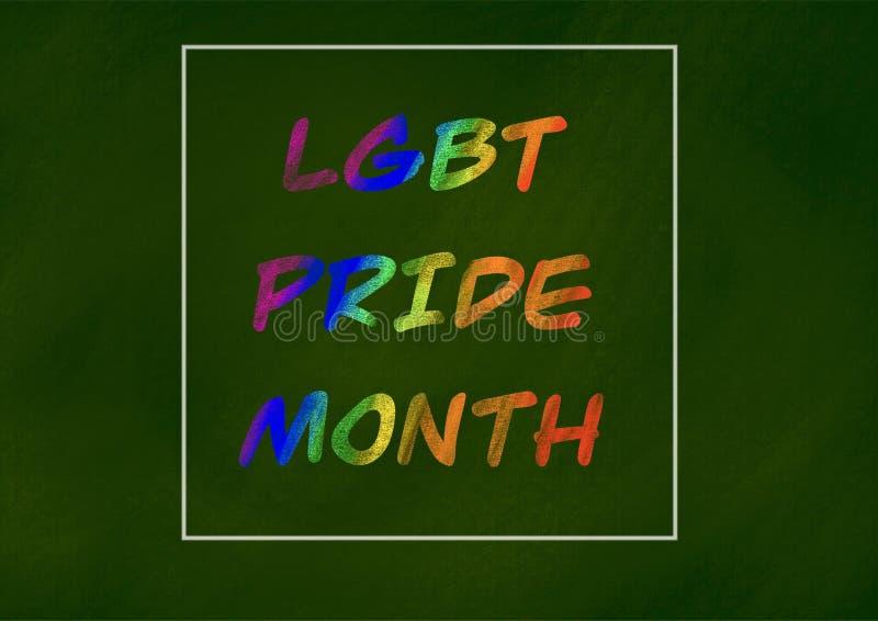 Concetto del fondo di mese di orgoglio di LGBT illustrazione vettoriale