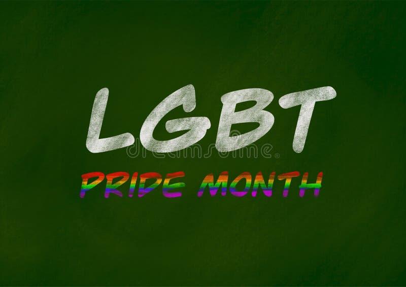 Concetto del fondo di mese di orgoglio di LGBT illustrazione di stock