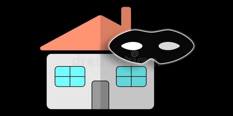Concetto del furto con scasso domestico immagini stock