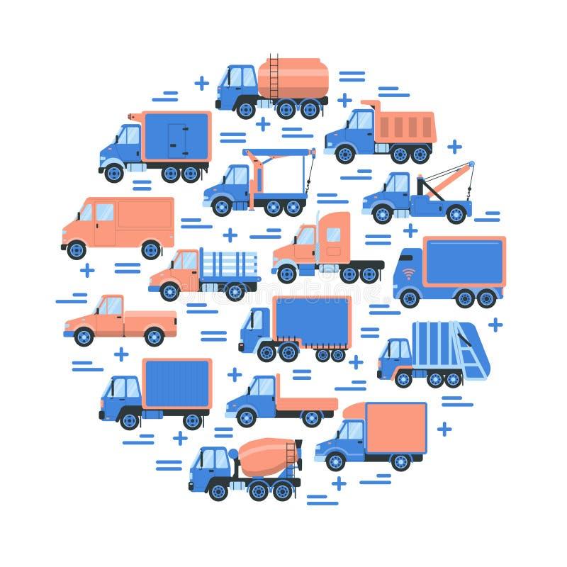 Tipi di camion illustrazioni vettoriali e clipart stock for Tipi di stile