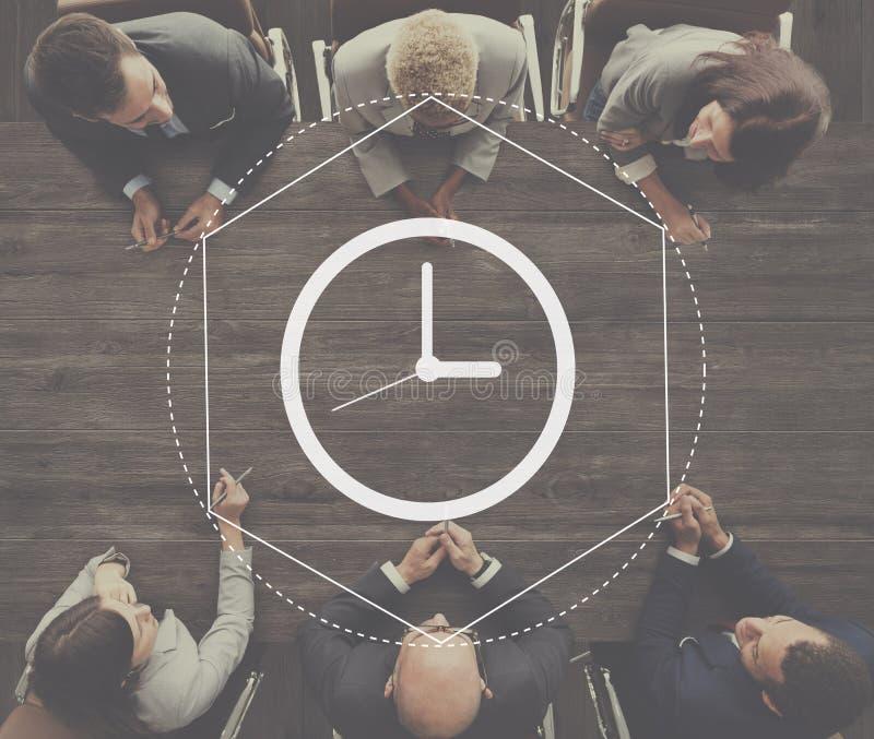 Concetto del grafico di intervallo di durata della gestione di tempo immagini stock