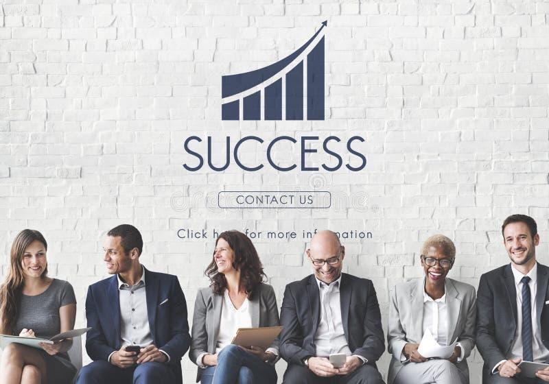 Concetto del grafico rapporto di successo di affari immagine stock libera da diritti
