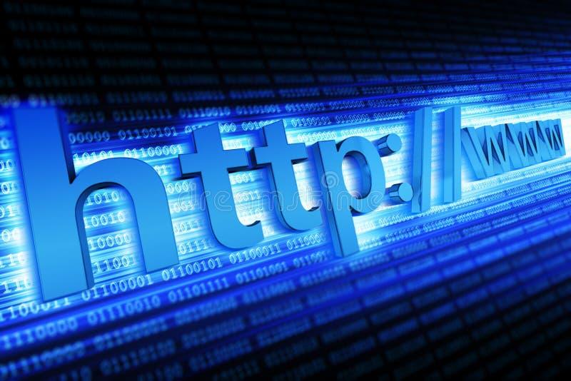 Concetto del HTTP di Internet illustrazione di stock