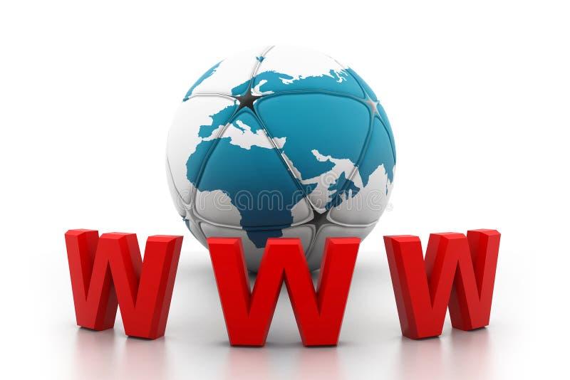 Concetto del Internet di World Wide Web illustrazione vettoriale