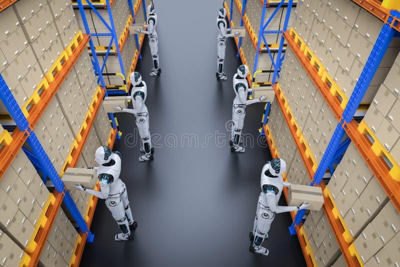 Concetto del magazzino di automazione