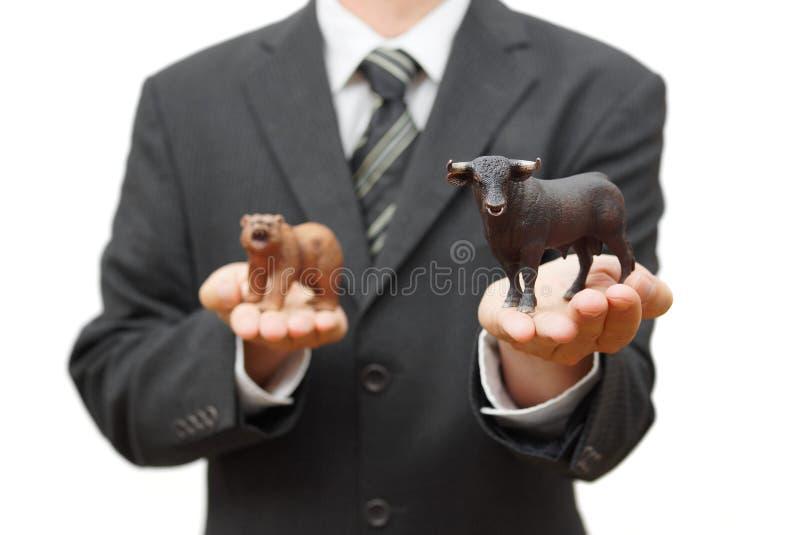 Concetto del mercato azionario del toro tendenza positiva sulla borsa valori fotografia stock