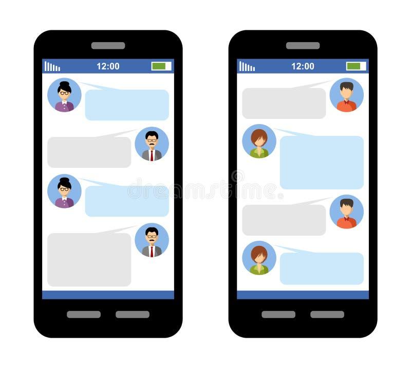 Concetto del messaggero illustrazione vettoriale