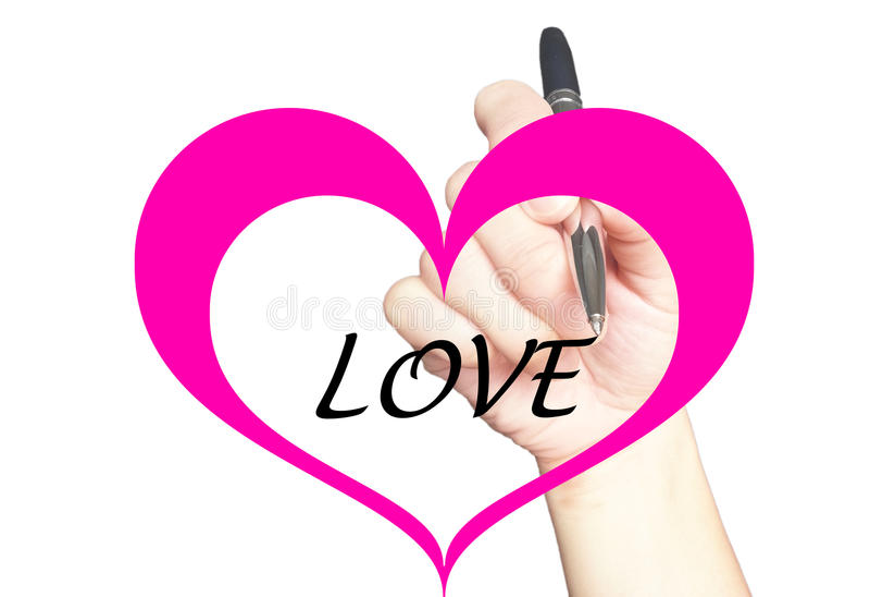 Concetto del messaggio di amore illustrazione vettoriale