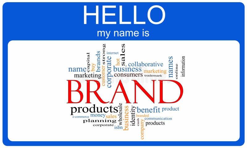 Concetto del Nametag della nuvola di parola di marca royalty illustrazione gratis
