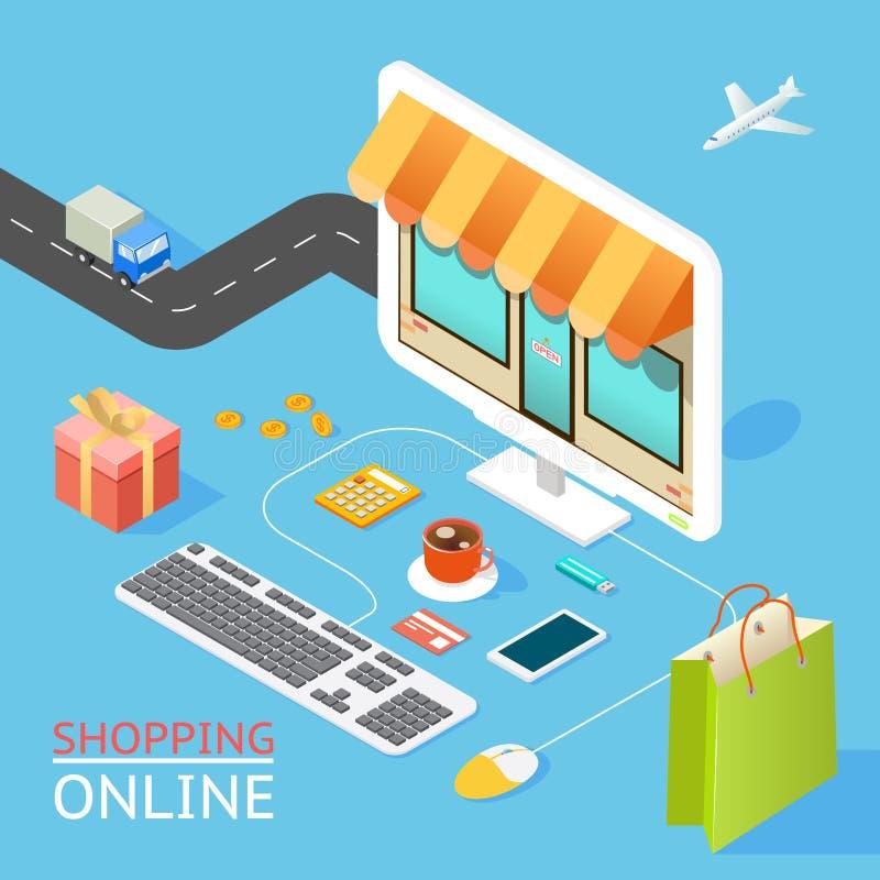 Concetto del negozio online illustrazione di stock