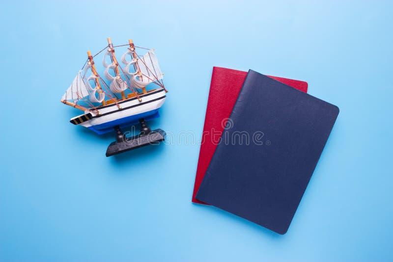 concetto del passaporto del marinaio immagini stock libere da diritti