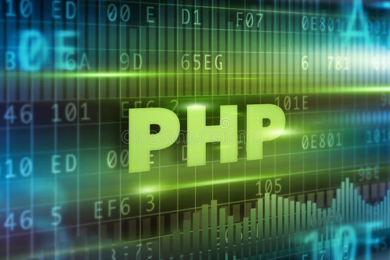 Concetto del PHP illustrazione vettoriale