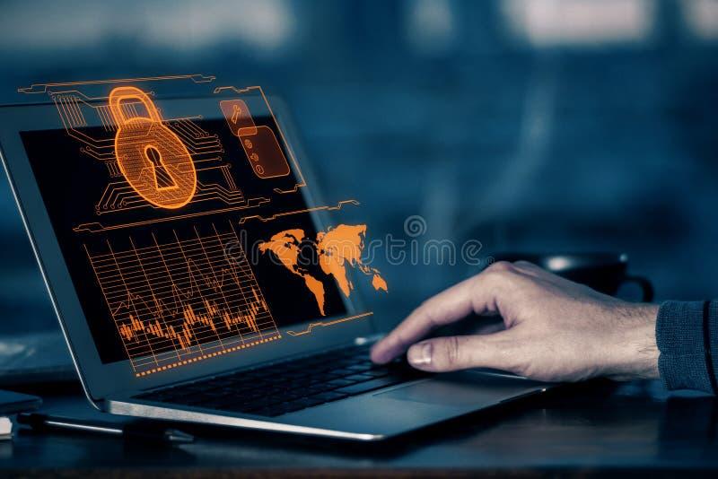 Concetto del pirata informatico immagine stock