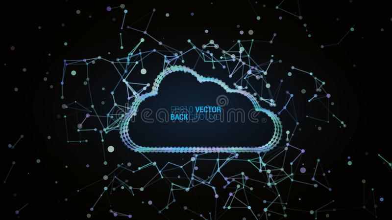 Concetto del plesso della nuvola royalty illustrazione gratis