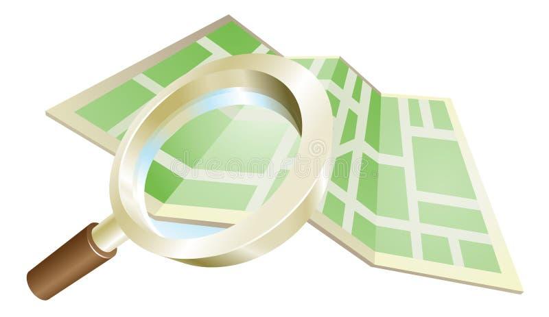 Concetto del programma della lente d'ingrandimento royalty illustrazione gratis
