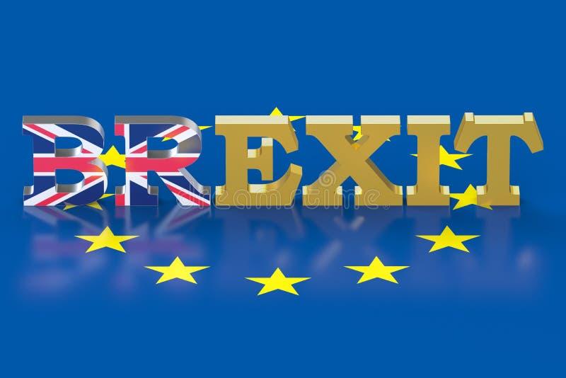 Concetto del referendum di Brexit illustrazione di stock