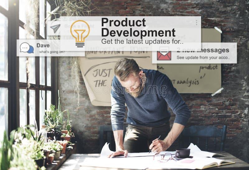 Concetto del rifornimento di efficienza di produttività di sviluppo del prodotto fotografie stock