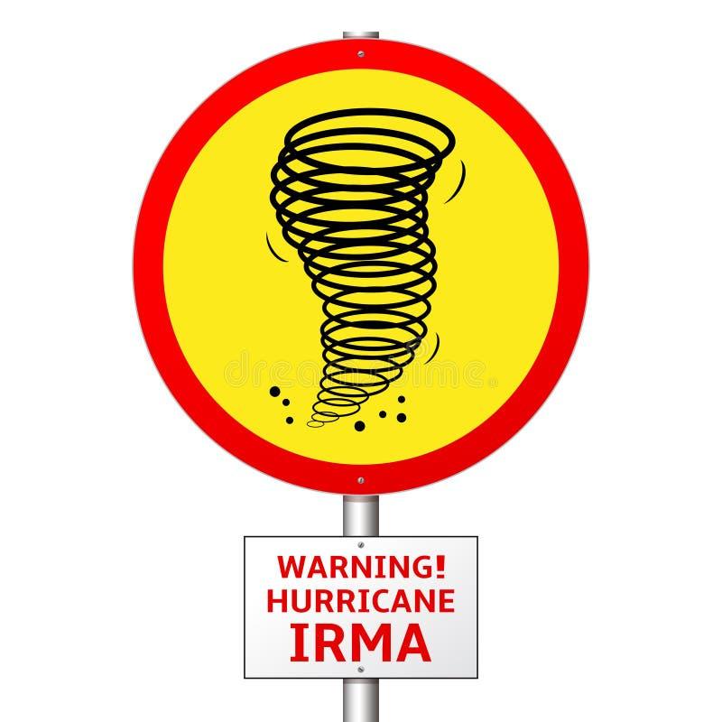 Concetto del segnale stradale di Irma di uragano illustrazione vettoriale