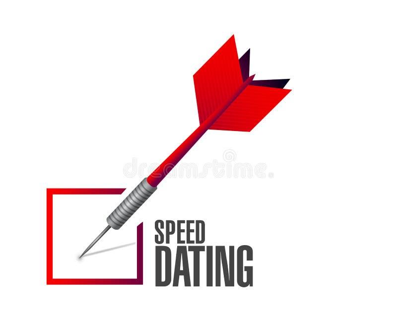 concetto del segno del dardo del controllo di datazione di velocità illustrazione vettoriale