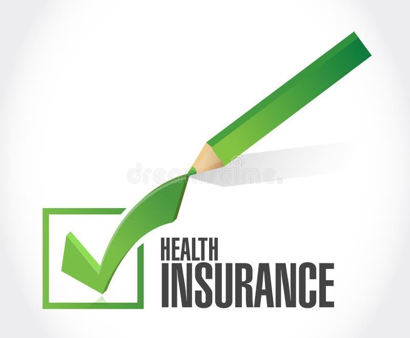 Concetto del segno del segno di spunta dell'assicurazione malattia royalty illustrazione gratis