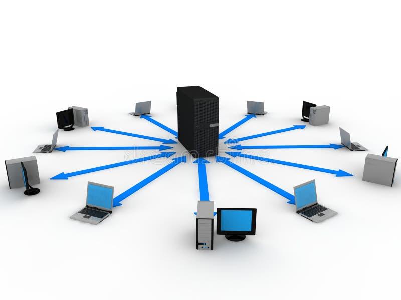 Concetto del server illustrazione di stock