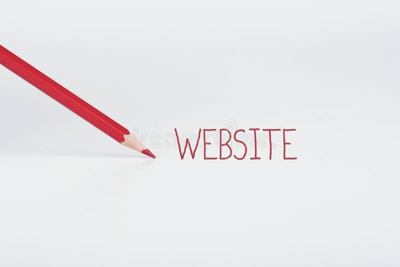 Concetto del sito Web immagine stock