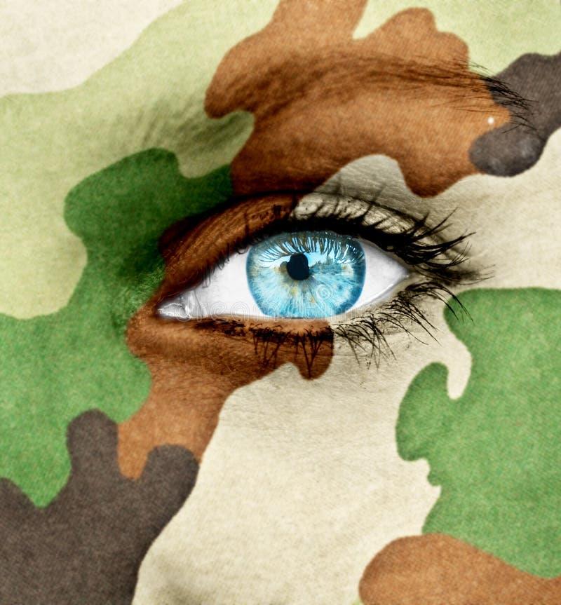 Concetto del soldato della donna fotografia stock