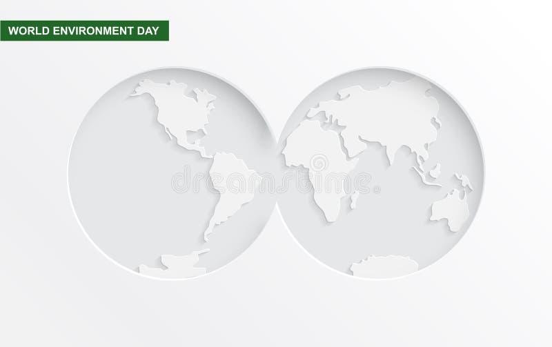 Concetto del taglio della carta di Giornata mondiale dell'ambiente royalty illustrazione gratis