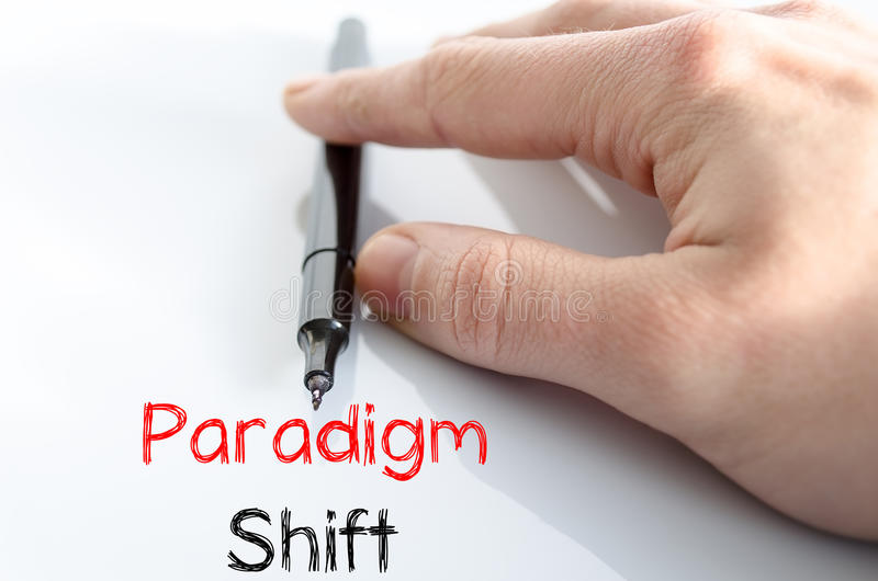 Concetto del testo dello spostamento di paradigma immagini stock libere da diritti