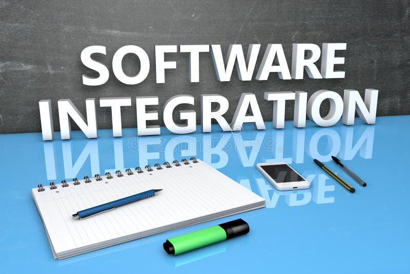 Concetto del testo di integrazione di software illustrazione vettoriale