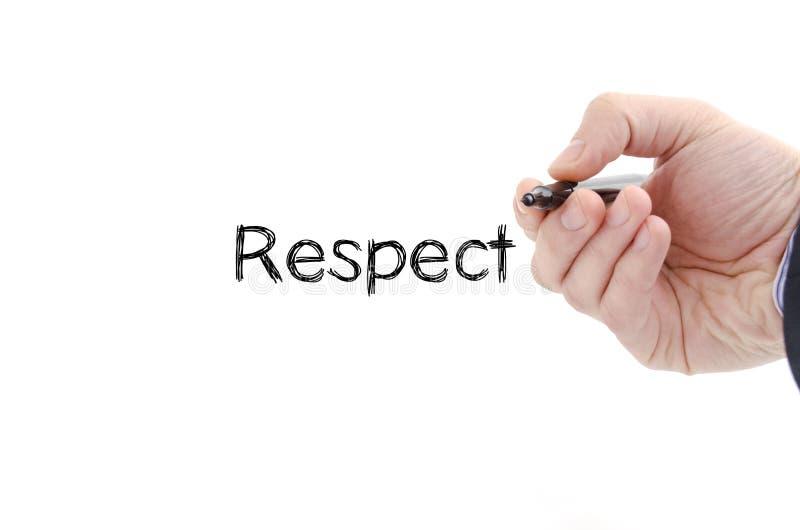 Concetto del testo di rispetto immagini stock libere da diritti