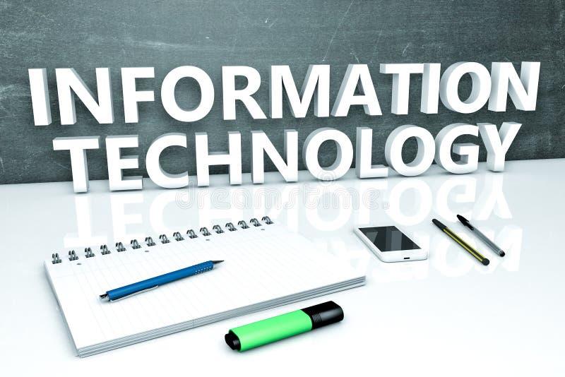 Concetto del testo di tecnologia dell'informazione illustrazione vettoriale