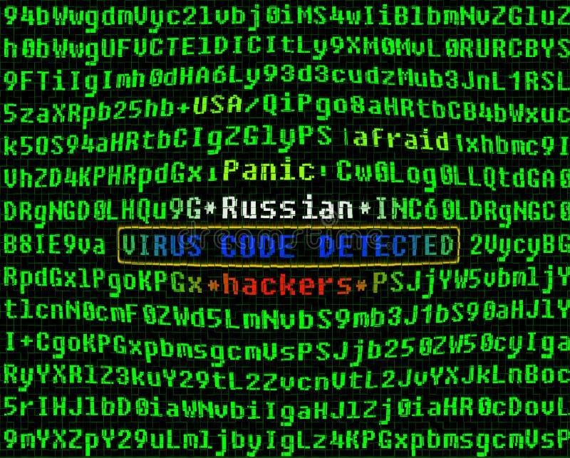 Concetto del virus di calcolatore Pirati informatici russi fotografia stock libera da diritti