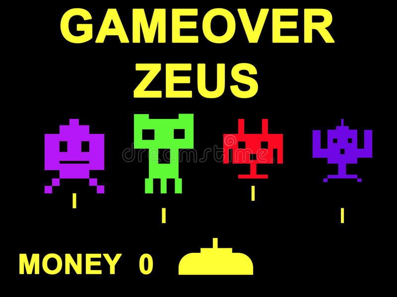 Concetto del virus di Gameover Zeus fotografie stock