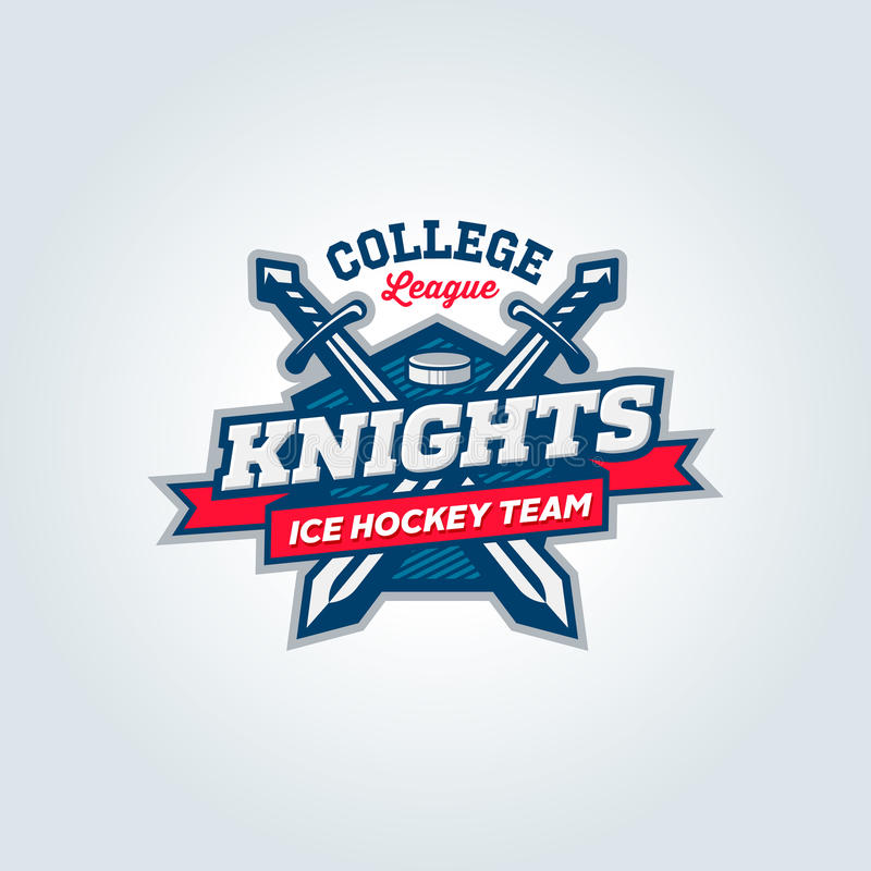 Concetto dell'abito di logo dello sport di squadra della lega dell'istituto universitario royalty illustrazione gratis