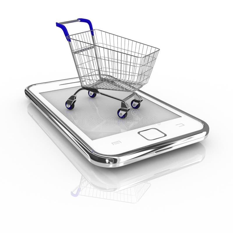 Concetto dell'acquisto di Smartphone fotografia stock