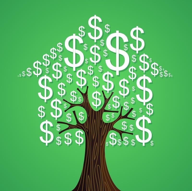 Concetto dell'albero del bene immobile illustrazione vettoriale