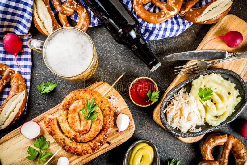 Concetto dell'alimento di Oktoberfest immagini stock