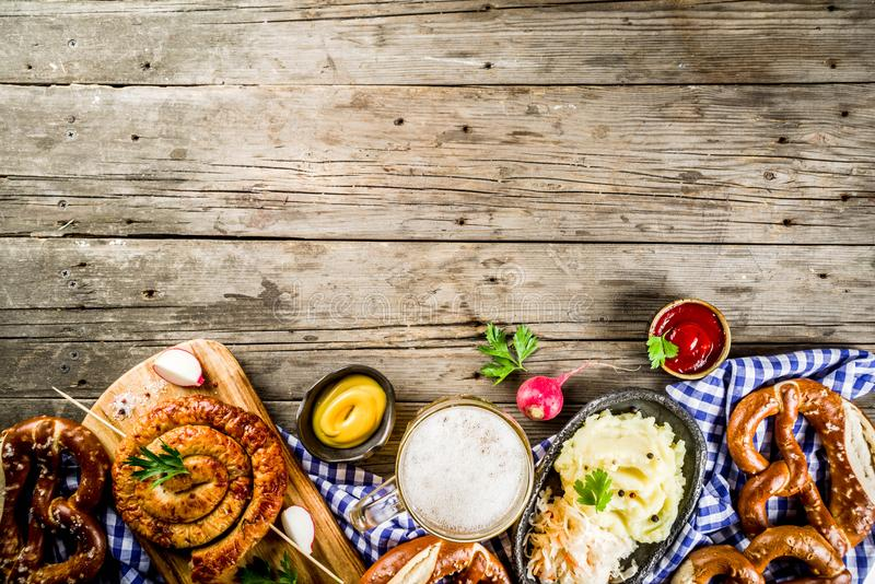 Concetto dell'alimento di Oktoberfest fotografia stock libera da diritti