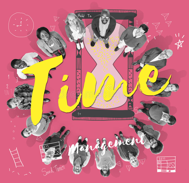 Concetto dell'allarme di minuto di ora dell'orologio marcatempo royalty illustrazione gratis