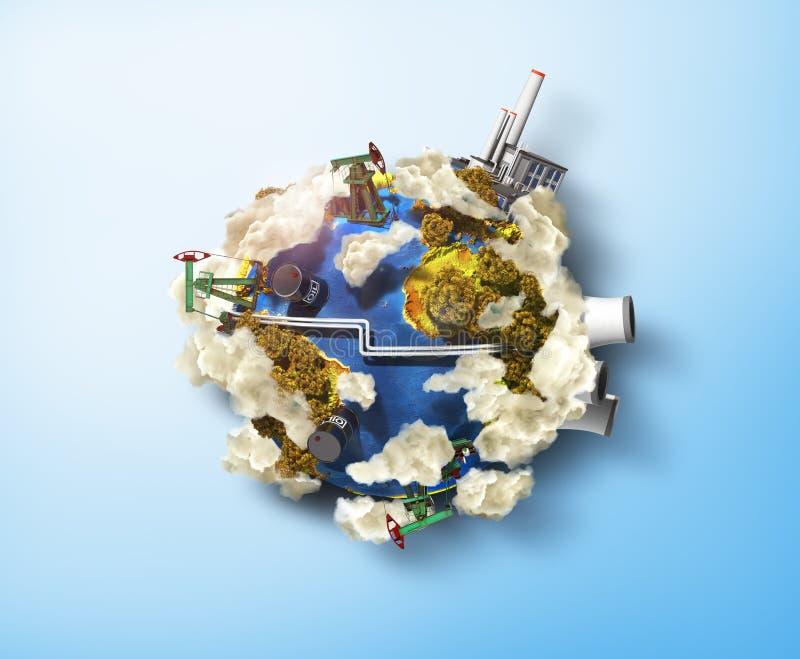 Concetto dell'ambiente di inquinamento illustrazione vettoriale