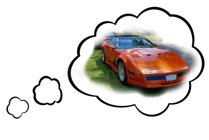 Concetto dell'automobile di sogno fotografia stock libera da diritti