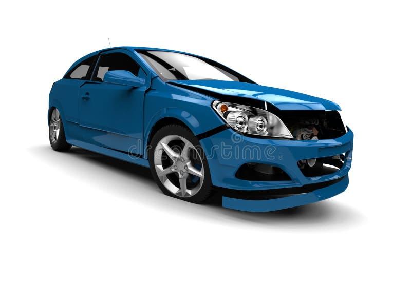 Concetto dell'automobile di Wreked illustrazione di stock