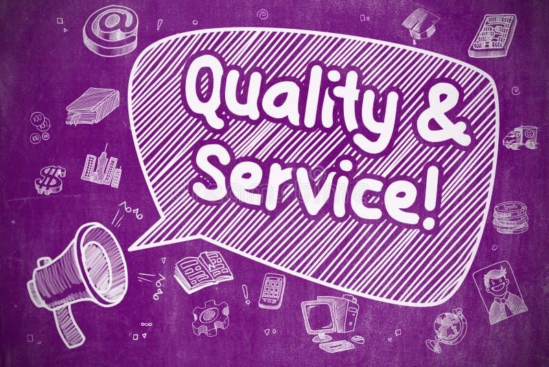 Concetto dell'azienda di servizi e di qualità illustrazione vettoriale
