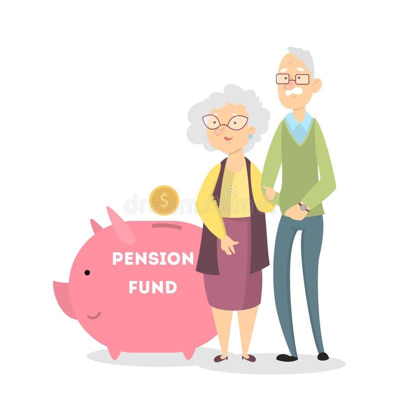 Concetto dell'cassa di pensione illustrazione vettoriale