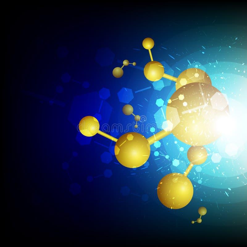 Concetto dell'elemento di fissione di scienza illustrazione vettoriale