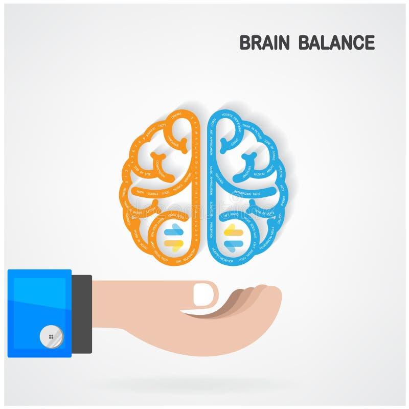 Concetto dell'equilibrio del cervello illustrazione vettoriale